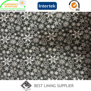 Beautiful Snow Pattern Polyester Twill Print Lining Fabric for Lady′s Jacket pictures & photos