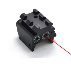 Tactical Compact Pistol Low Profile Rifle Red Laser DOT Sight Scope with Rail Mount Black pictures & photos