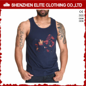 Wholesale Cheap Bodybuilding Mens Black Cotton Polyester Singlets (ELTMBJ-262) pictures & photos
