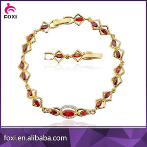 Wholesale Fashion Changeable Color Stone Charm Plating Gold Starfish Bracelets pictures & photos