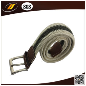 New Fashion Custom Made Cotton Woven Belts with Zinc Alloy Buckle