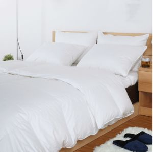 Hangzhou City Factory Solid Cover White Goose Down Comforter pictures & photos