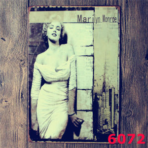 Outdoor Decorations 20*30cm Marilyn Monroe Metal Plate pictures & photos