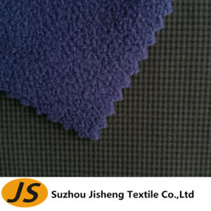 75D Cationic Polyester Spandex Stretch Fabric Bonded Polar Fleece pictures & photos