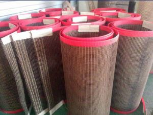 High Temperature Resistant Non Stick PTFE Coated Glassfiber Open Mesh Conveyor Belt pictures & photos