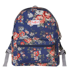 Three Sizes Waterproof British Floral Canvas Backpack (23182)