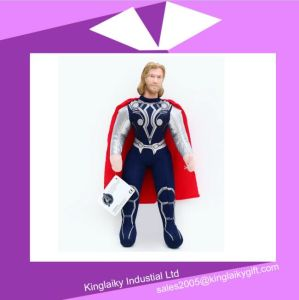 Avengers Alliance Thor/Superman/ Spiderman Doll Plush Cartoon Characters Stock pictures & photos