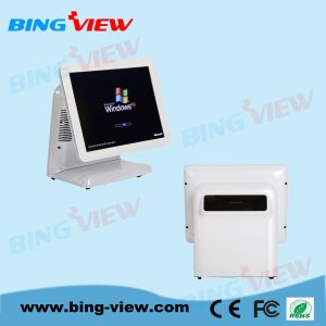 "15"" True Flat Resistive Point of Sales Touch Screen Monitor with USB/RS232"