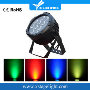New Arrival IP65 12*18W Rgbwap 6in1 LED Flat PAR Can pictures & photos
