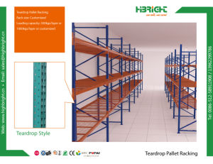 Teardrop Style Warehouse Rack System pictures & photos