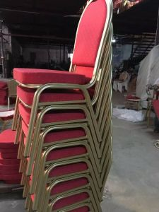 Banquet Chair Event Use Color Crown Back Stackable Metal Aluminum Hotel Furniture pictures & photos