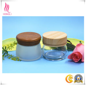 100g Mask Container Facial Cream Glass Jar with Wooden Lid pictures & photos