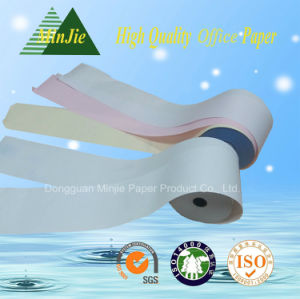 Blue or Black Image 50GSM to 60GSM Self Copy Paper CF/CFB/CB Carbonless Paper Roll pictures & photos