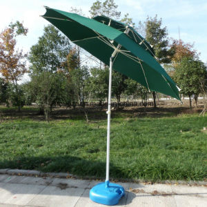 2.4m Outdoor Double Sunshade Beach Fishing Umbrella Patio Parasol pictures & photos