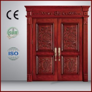 Luxury Style Solid Wooden Son and Mother Door pictures & photos