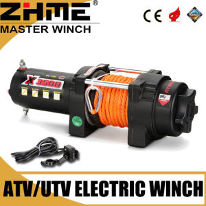 3500lbs 12V ATV Synthetic Rope Winch with High Performance Motor pictures & photos