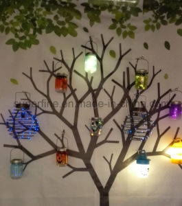 Waterproof Beautiful Hanging Solar Power Luminary Mason Glass Jar Fairy LED Lights pictures & photos