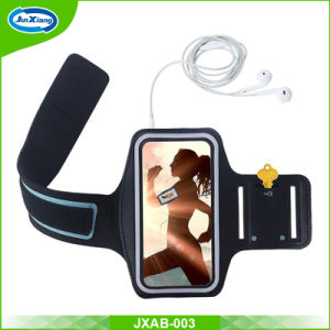 New 5.5 4.7 Inch Black Men Neoprene Custom Reflective Running Sport Armband Mobile Phone Case for iPhone 6 7 pictures & photos