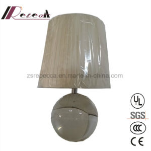 Modern Crystal Round Fabric Shade Table Lamp for Bedroom pictures & photos
