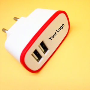 Special Design 5V 2.1A EU/Us/UK Plug Dual USB Charger for iPhone/Huawei/Samsung pictures & photos