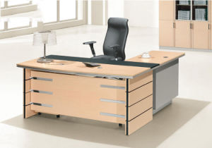 3 Drawers Pedestal Attached Wooden Table Top Office Desk (HX-AD805) pictures & photos
