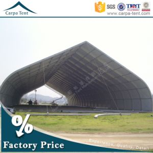 40m Span Large Aluminum Frame PVC Gray Portable Inflatable Warehouse Curved Tents / Garage Tents / Tunnel Tents / Sport Hall pictures & photos