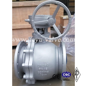 DIN Floating Cast Steel Split Body Ball Valve pictures & photos