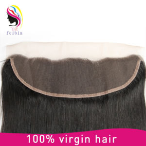 100% Virgin Remy Human Hair Lace Frontals 13*4 Straight Hair Closure pictures & photos