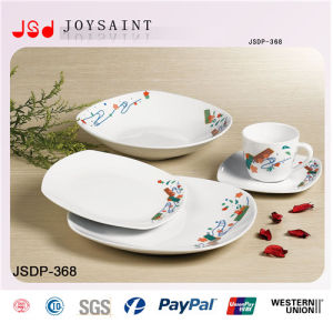 Customized Dinner Set in Squared Shape pictures & photos