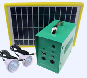 Solar LED Light with Plastic Solar Panel pictures & photos