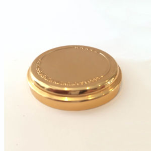 Golden Container Cap for Cosmetic Jars pictures & photos