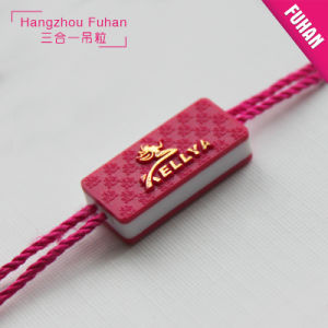 High-End Red Plastic Tag for Feather Jacket pictures & photos