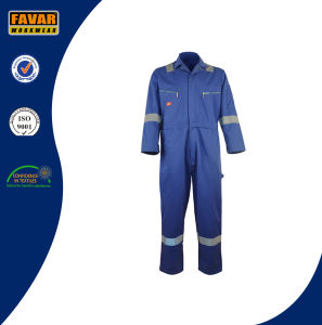 Mens Cotton Drill Fire Retardant Coveralls Miner Workwear in Oil/Gas Field
