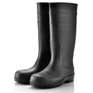 PVC Safety Boots for Rain (JK46504-Black) pictures & photos