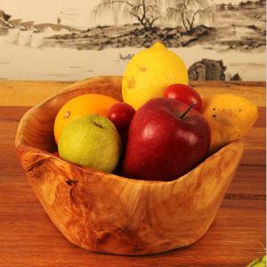 Special Design Carved Home Natural Durable Wood Fruit Bowl