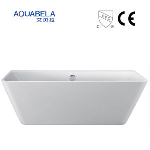 Wall Against Wide Flange Acrylic Freestanding Hot Tub Bathtub pictures & photos