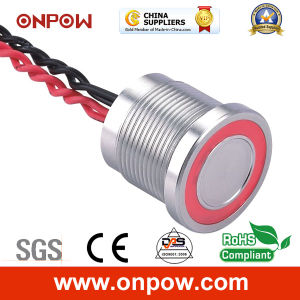Onpow 19mm Piezoelectric Switch with Ring Light (PS193P10YSS1R12L, CCC, CE) pictures & photos