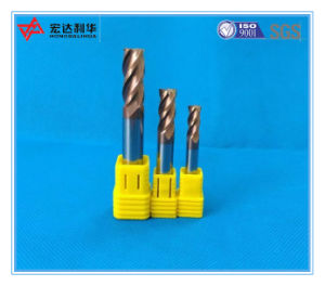 High Performance Coated Solid Carbide Square End Mill with 4 Flutes pictures & photos
