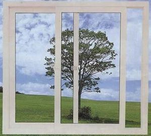 UPVC Sliding Window PVC Double Tempered Glass5+12A+5 Window pictures & photos