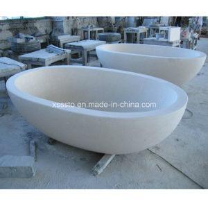 Modern Bathroom Stone Marble Simple Bathtub for Bathroom Fittings pictures & photos