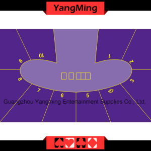 Texas Hold′em Poker Table Layout - 5 (YM-DZ01P) pictures & photos