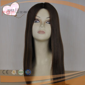 Top Selling Style Hand Tied Full Lace Type Shevy Work Silk Top Wig pictures & photos