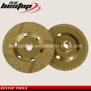 vacuum Brazed Angle Grinder Cup Wheel pictures & photos