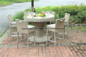 Outdoor Rattan Round Bar Table and Rattan Bar Chairs pictures & photos