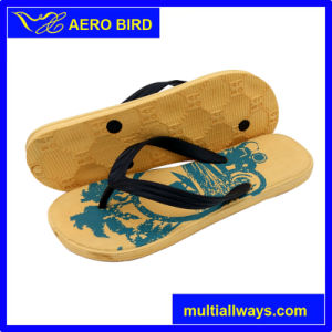 Outdoor Men V-Strap Simple Style EVA Injection Slippers pictures & photos