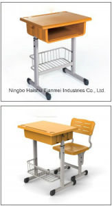 School Single Desk, High School Furniture Desk&Chair pictures & photos