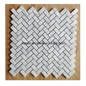 Customized New Style White Marble Mosaic Tiles for Wall pictures & photos