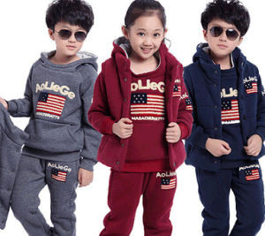 Sports Wear Autumn Long Sleeve Fashion Children Clothing Set pictures & photos