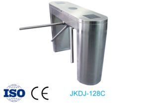 Supermarket Entrance Standard Semi Automatic Bi-Direction Vertical Turnstile pictures & photos