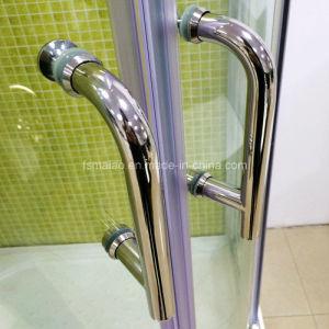 Austalian Certificate Tempered Glass Arc-Shape Bathroom (H002) pictures & photos